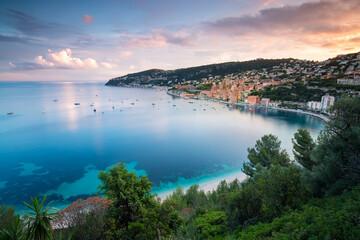 Fototapeten Blau Villefranche sur mer Côte d'Azur France