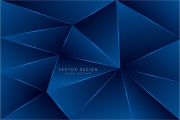 Abstract background with blue geometric pattern modern design vector illustration