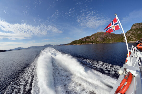 Sognefjord, Norway, Scandinavia. View from the board of Flam - Bergen ferry.