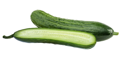 Wall Mural - cucumber isolated on white background