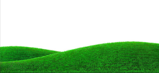 Vector green hills background realistic field landscape