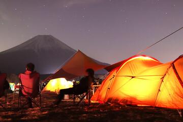 Photo sur Plexiglas Lavende 富士山キャンプ