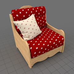 Country style armchair