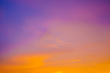 Poster Prune Colorful abstract blurred sunset sky