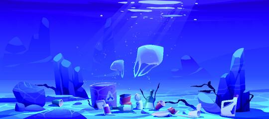 Photo sur Toile Bleu fonce fondo de arrecife de mar