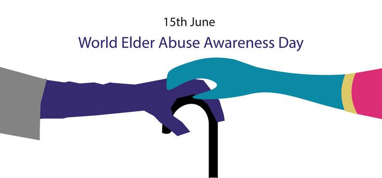 World Elder Abuse Awareness Day, illustration. 40''x 24'' at 300 resolution.