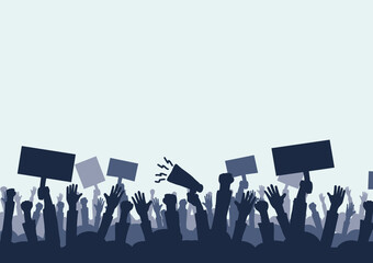 Hand drawing and protest Concepts of social problems It is a vector, icon.