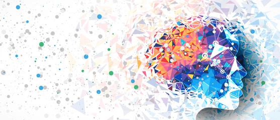 Fototapeta Conceptual technology illustration of artificial intelligence obraz