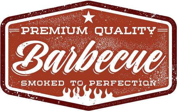 Vintage Style Barbecue Menu Stamp