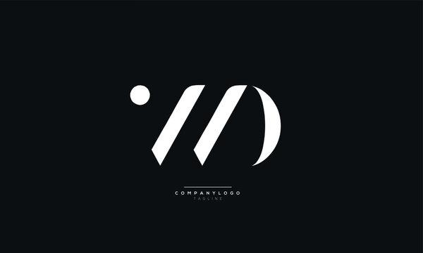 WD Letter Logo Alphabet Design Icon Vector Symbol
