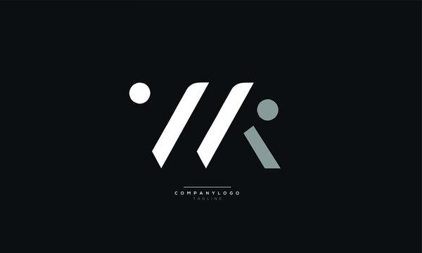 WK Letter Logo Alphabet Design Icon Vector Symbol