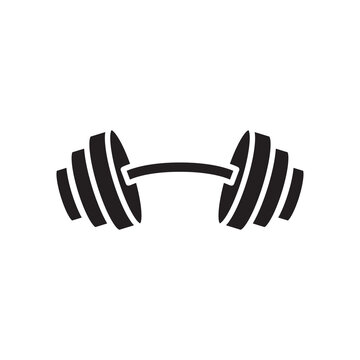 barbell icon glyph style design