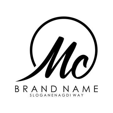 letter mc logo design concept vector