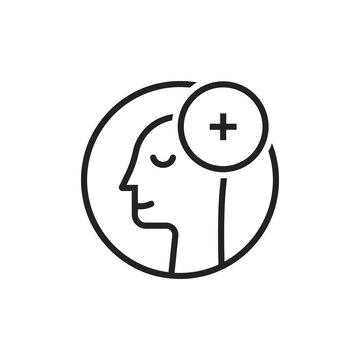 linear human head like positive attitude