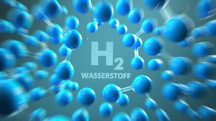 H2 Wasserstoff Moleküle