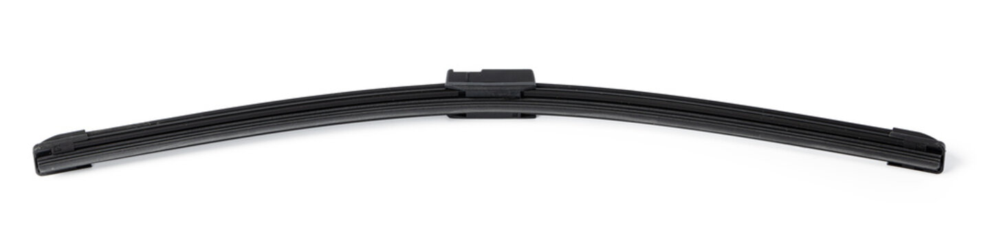 Windshield wipers for cars on a white background. Car part.