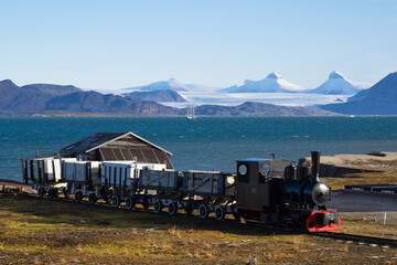 Wall Murals Pole The northernmost train on Earth in a village called