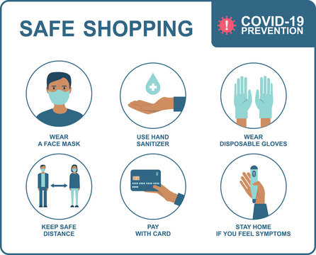 Safe shopping in public places during the coronavirus COVID-19 disease outbreak