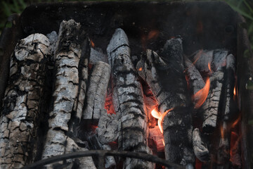 Charcoal Stove burning grill