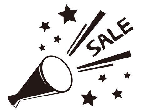 セールメガホンのベクターイラスト 販売促進とお買い得を知らせるアイコン