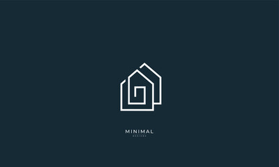 A line art icon logo of a house , home, real estate