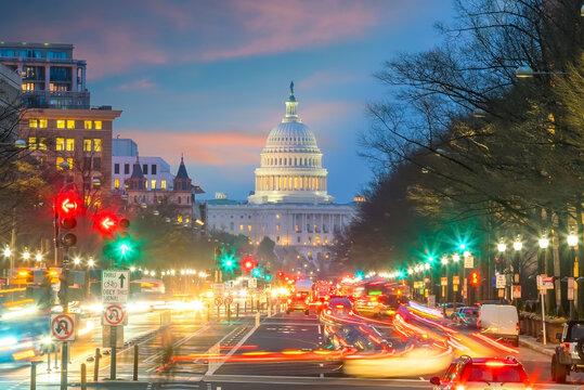 Washington DC downtown skyline  of USA