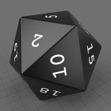 Twenty sided dice