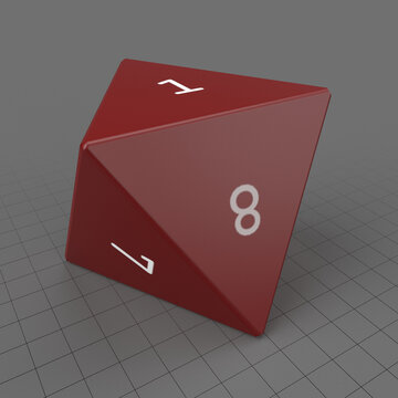 Eight sided dice