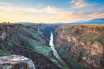 Fototapete - Taos, New Mexico, USA at Rio Grande Gorge Bridge over the Rio Grande
