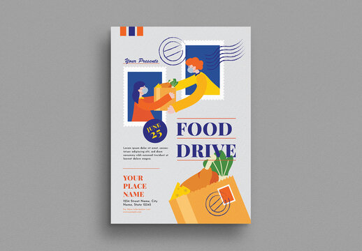 Food Drive Flyer Layout