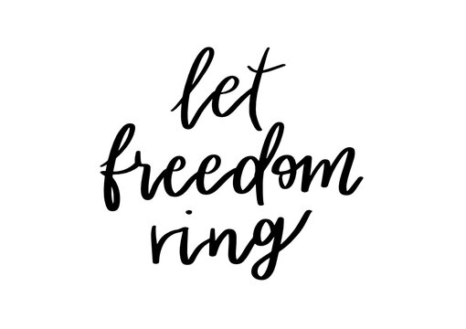 Let freedom Ring | USA America | Patriotic Quotes | 4th of July Crafts