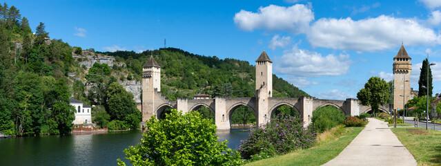 Pont Valentré à Cahors, Lot, France