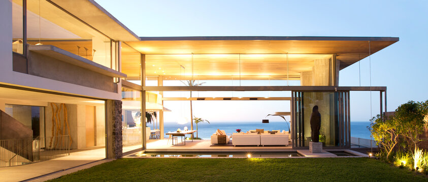 Open floor plan of modern house