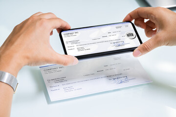 Scanning Remote Deposit Check Document Using Phone