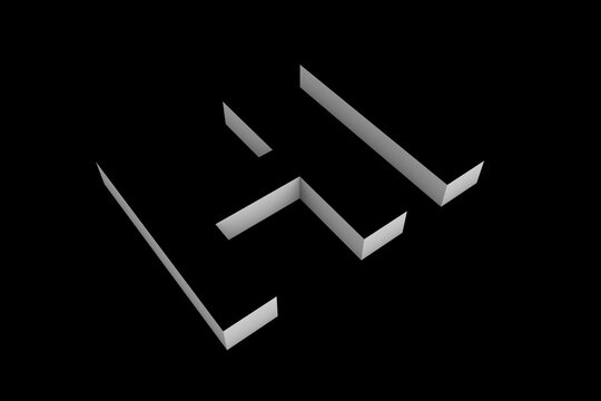 Hi word illustration on black background