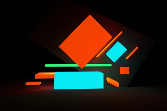 Bright geometric forms illustrations