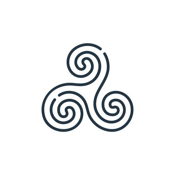 triskelion vector icon. triskelion editable stroke. triskelion linear symbol for use on web and mobile apps, logo, print media. Thin line illustration. Vector isolated outline drawing.