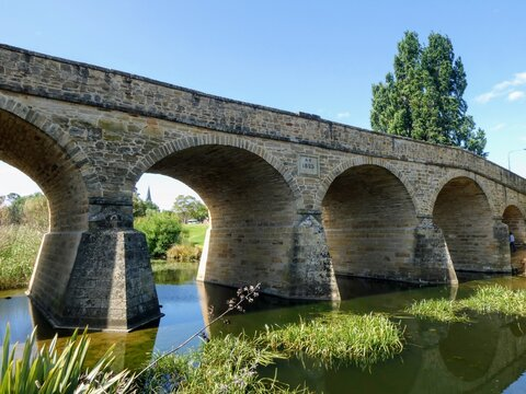The convict built Richmond Bridge in rural Tasmania Australia which spans the Coal River and is listed on the Australian National Heritage List