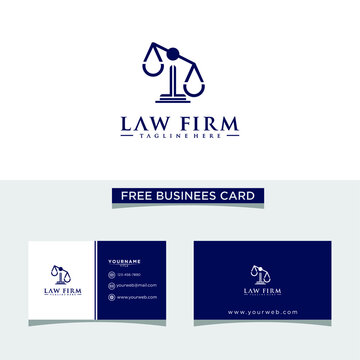Law Firm Logo - Vector, Free Business Card.