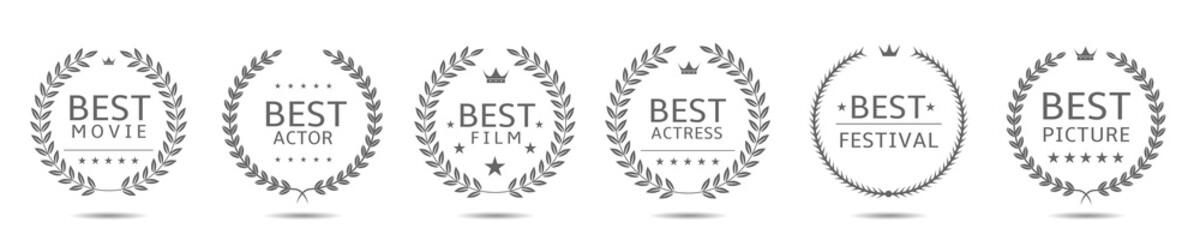Best movie badge set