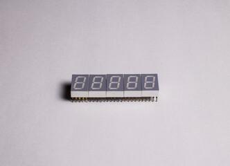 LED Numeric Displays five