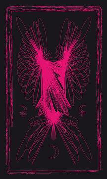Tarot cards - back design.  Lilith, Selena, Moon