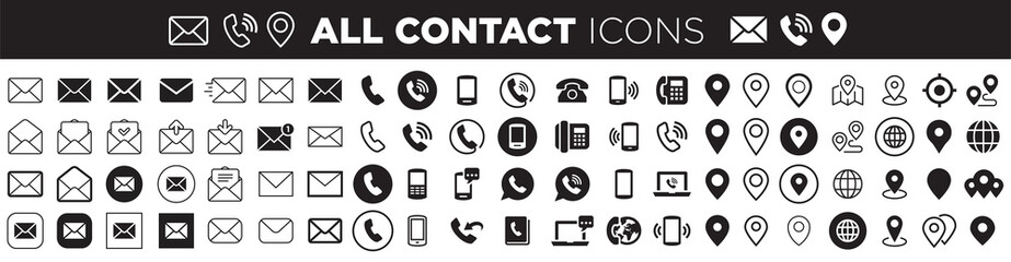 Obraz contact icons - fototapety do salonu