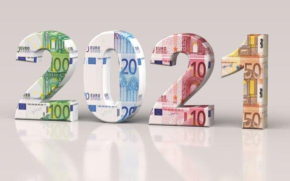 2021 - Euro - Banknoten - Scheine