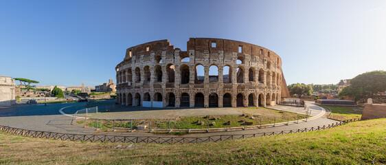 Colosseum inner rim at sunrise, Rome, Italy