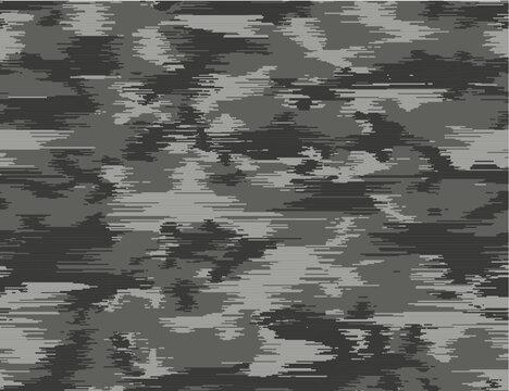 Urban camouflage seamless pattern. Horizontal line texture. Grey shades.