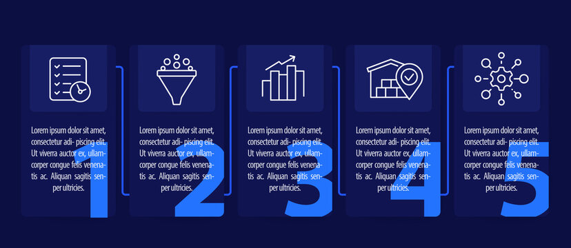 business infographics design with line icons, vector