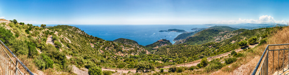 Landscape view over the French Riviera coastline, Cote d'Azur, France
