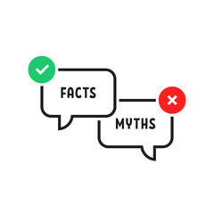 facts vs myths simple popup bubble