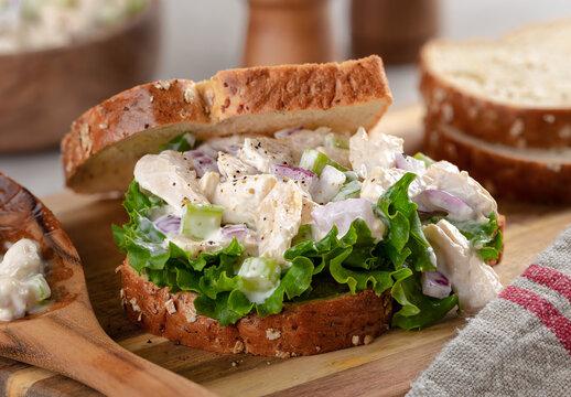 Chicken Salad Sandwich on Whole Grain Bread
